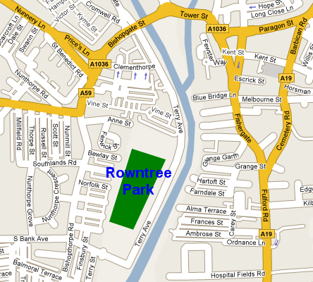Map of Rowntree Park