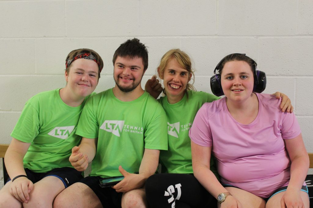 Keigan, Lewis, Emily and Naomi who volunteered at the York Regional Visually Impaired Tournament