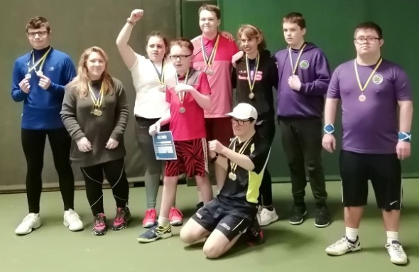 YDTN COmpetitiors at the Leeds Learning Disability Regional Tournament in Leeds
