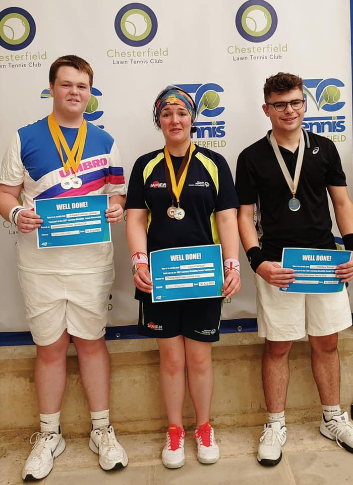 Keigan, Laura and Matthew. YDTN Medal Winners at the Chesterfield Regional Learning Disability Tournament